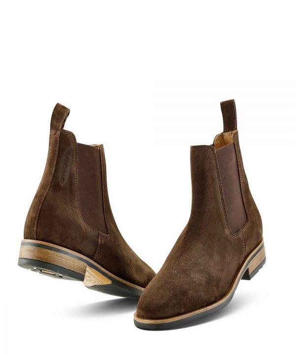 The Rantin Robin Grubs Tatton Brown Suede Chelsea Boots