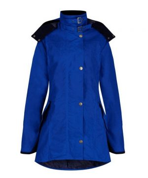 The Rantin Robin Welligogs Louise Royal Blue Waxed Jacket