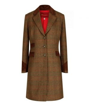 The Rantin Robin Welligogs Demelza Check Tweed Coat