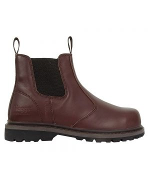 The Rantin Robin Hoggs of Fife Zeus Safety Dealer Boots Brown