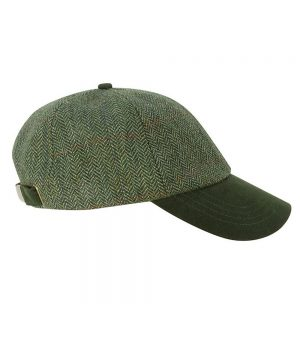 The Rantin Robin Helmsdale Tweed Baseball Cap Contrast Peak
