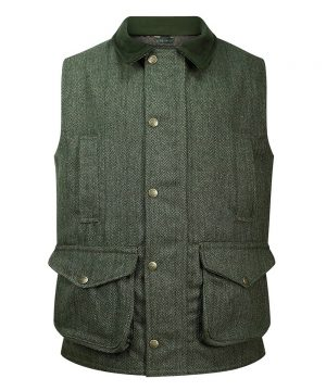 The Rantin Robin Helmsdale Tweed Waistcoat Front View
