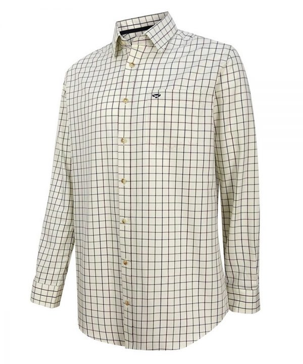 The Rantin Robin Hoggs of Fife Balmoral Luxury Tattersall Shirt Navy