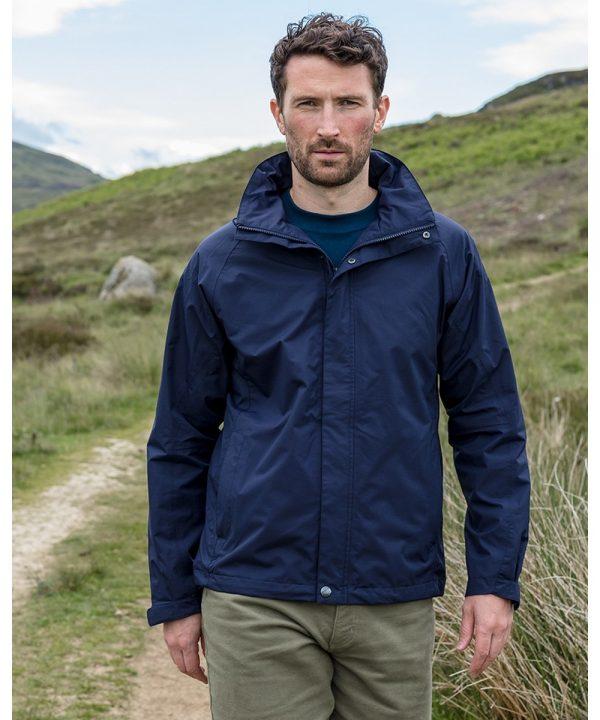 The Rantin Robin Hoggs of Fife Cheviot Waterproof Jacket Model