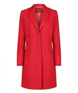 The Rantin Robin Welligogs Demelza Cherry Tweed Coat
