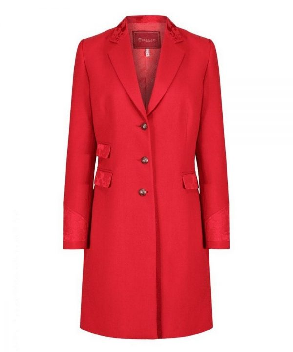 The Rantin Robin Welligogs Demelza Cherry Tweed Coat
