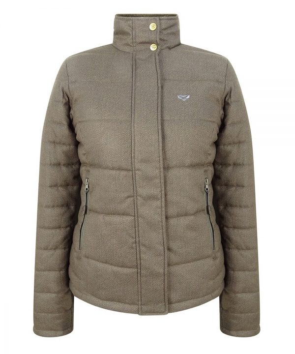 The Rantin Robin Hoggs of Fife Elgin Ladies Quilted Jacket Front View
