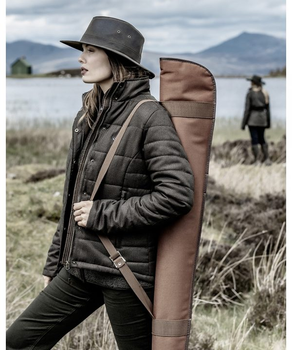 The Rantin Robin Hoggs of Fife Elgin Ladies Quilted Jacket Model