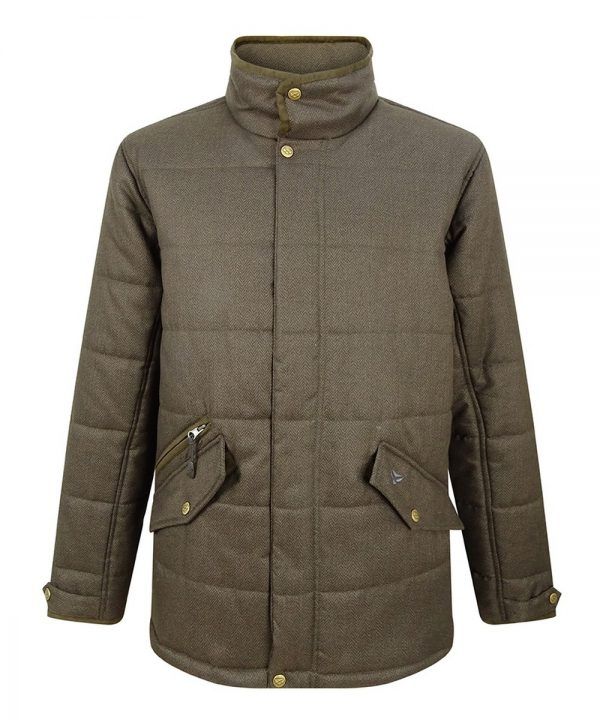 The Rantin Robin Hoggs of Fife Elgin Mens Quilted Jacket Front View