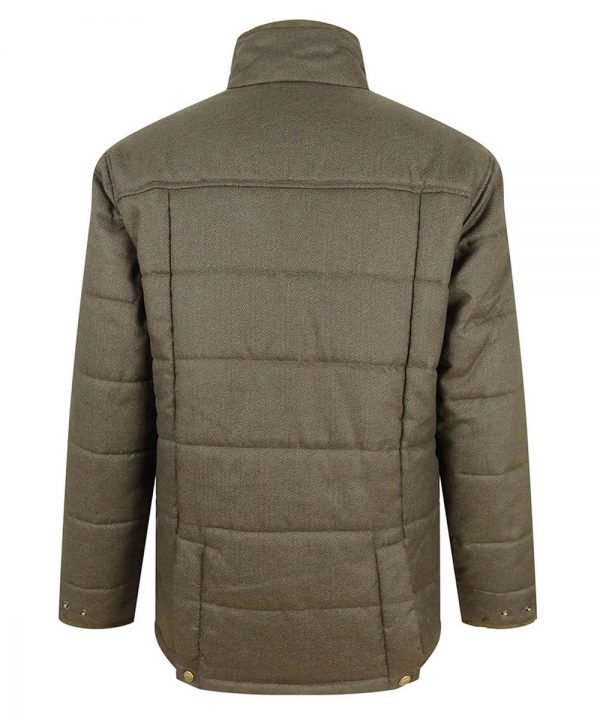 The Rantin Robin Hoggs of Fife Elgin Mens Quilted Jacket Back View