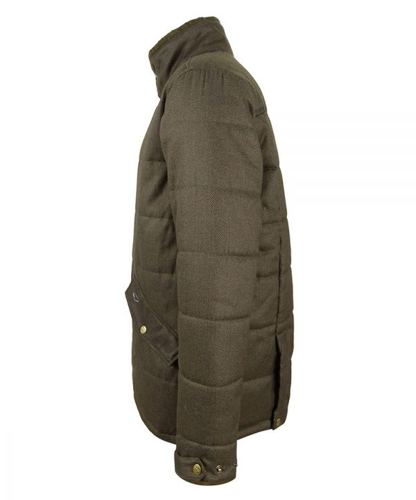 The Rantin Robin Elgin Mens Quilted Jacket Side View