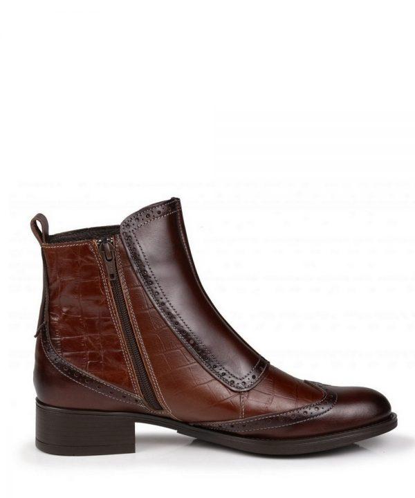 The Rantin Robin Welligogs Chestnut Leather Chelsea Boots Zip