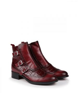 The Rantin Robin Welligogs Burgundy Leather Chelsea Boots