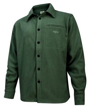 The Rantin Robin Hoggs of Fife Highlander Micro Fleece Shirt Green