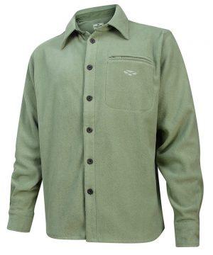 The Rantin Robin Hoggs of Fife Highlander Micro Fleece Shirt Lovat