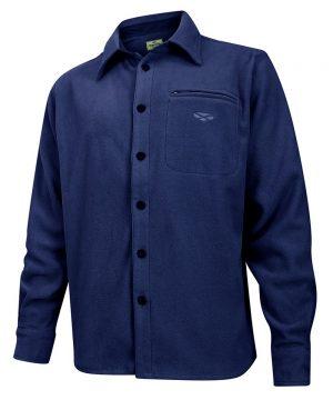The Rantin Robin Hoggs of Fife Highlander Micro Fleece Shirt Navy