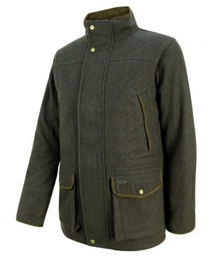 The Rantin Robin Hoggs of Fife Lairg Waterproof Wool Jacket Angled View