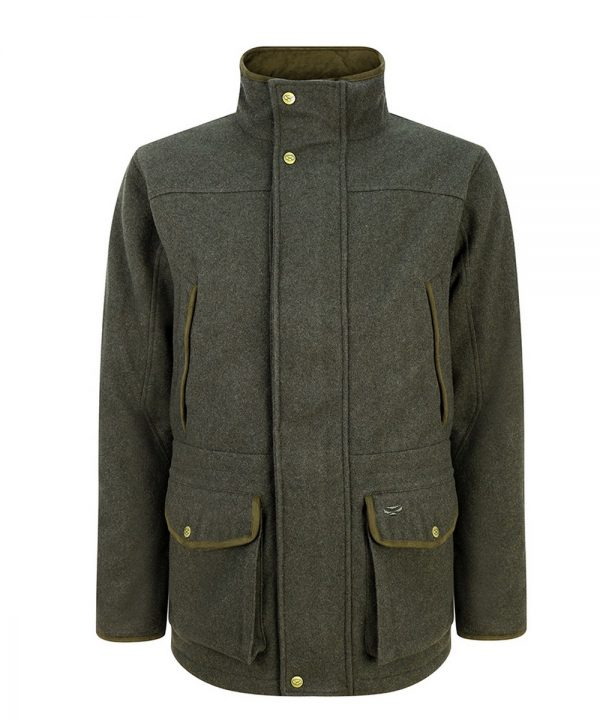 The Rantin Robin Lairg Waterproof Wool Jacket Front View