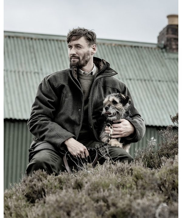The Rantin Robin Lairg Waterproof Wool Jacket Model