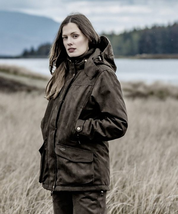 The Rantin Robin Rannoch Ladies Waterproof Hunting Jacket Model