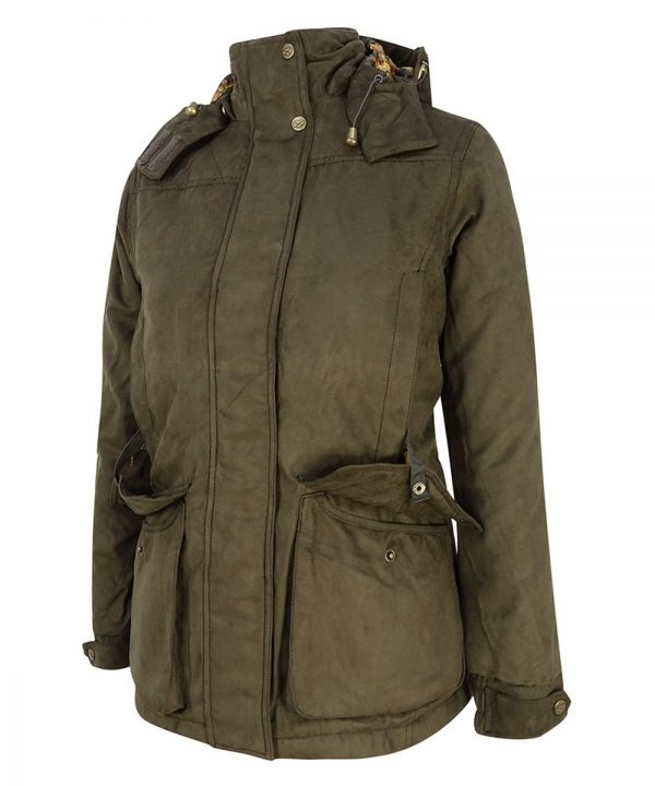 The Rantin Robin Hoggs of Fife Rannoch Ladies Waterproof Hunting Jacket Pocket