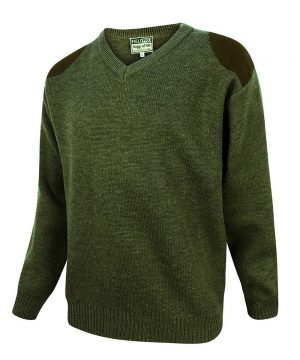 The Rantin Robin Hoggs of Fife Melrose V-Neck Hunting Pullover