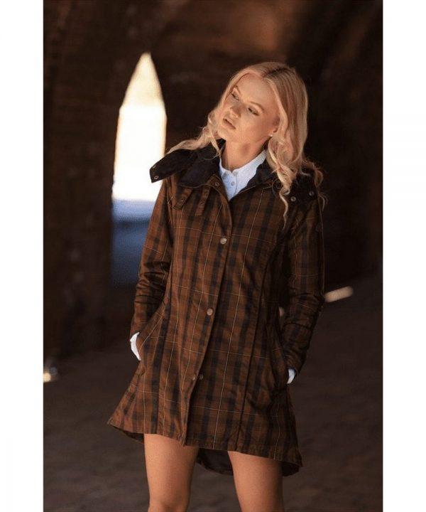 The Rantin Robin Welligogs Odette Wax Check Jacket Model