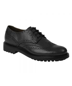The Rantin Robin Hoggs of Fife Prestwick Black Brogue Shoes