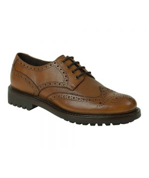 The Rantin Robin Hoggs of Fife Prestwick Brown Brogue Shoes