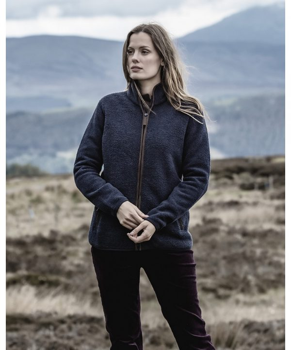 The Rantin Robin Sussex Ladies Tufted Fleece Jacket Model