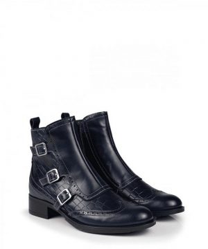 The Rantin Robin Welligogs Navy Leather Chelsea Boots