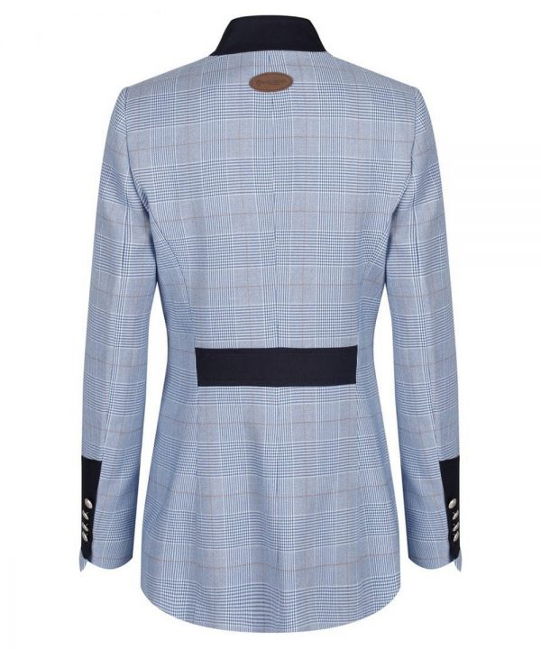 The Rantin Robin Welligogs Henley Blue Check Fitted Jacket Back