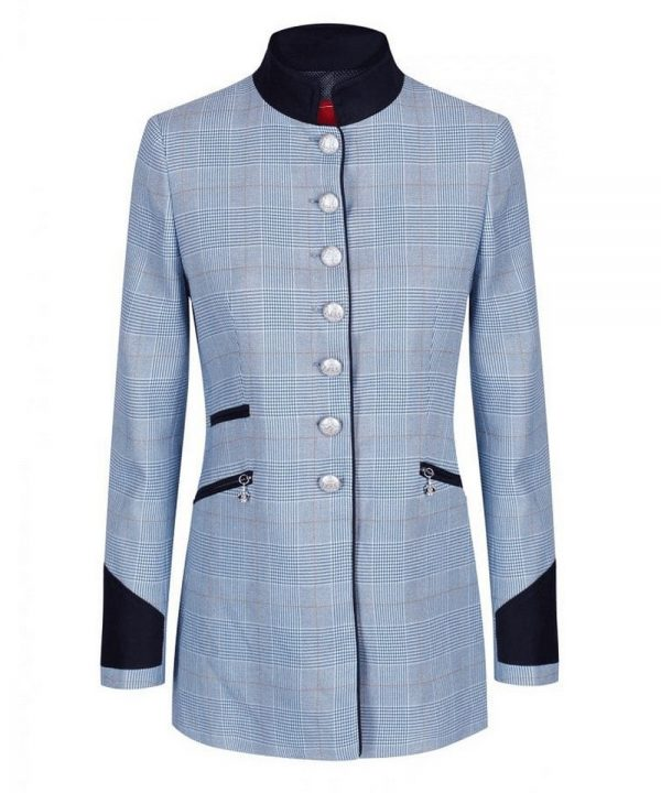 The Rantin Robin Welligogs Henley Blue Check Fitted Jacket