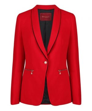 The Rantin Robin Welligogs Kuoni Red Ladies Fitted Jacket