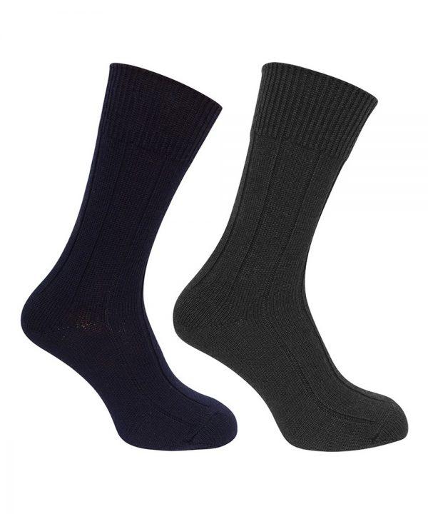 The Rantin Robin Hoggs of Fife Merino Brogue Socks Grey