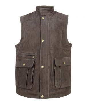 The Rantin Robin Hoggs of Fife Lomond Leather Waistcoat