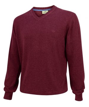 The Rantin Robin Hoggs of Fife Stirling V-Neck Cotton Pullover