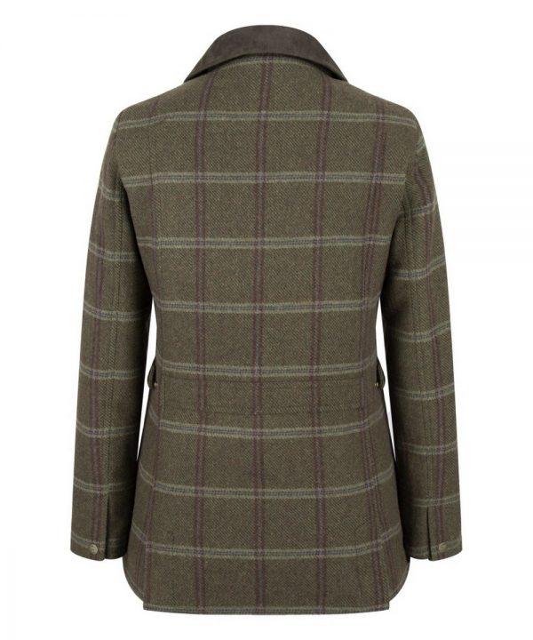 The Rantin Robin Musselburgh Ladies Tweed Field Coat Back View
