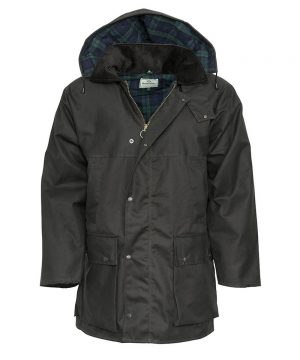 The Rantin Robin Brown Padded Waxed Jacket