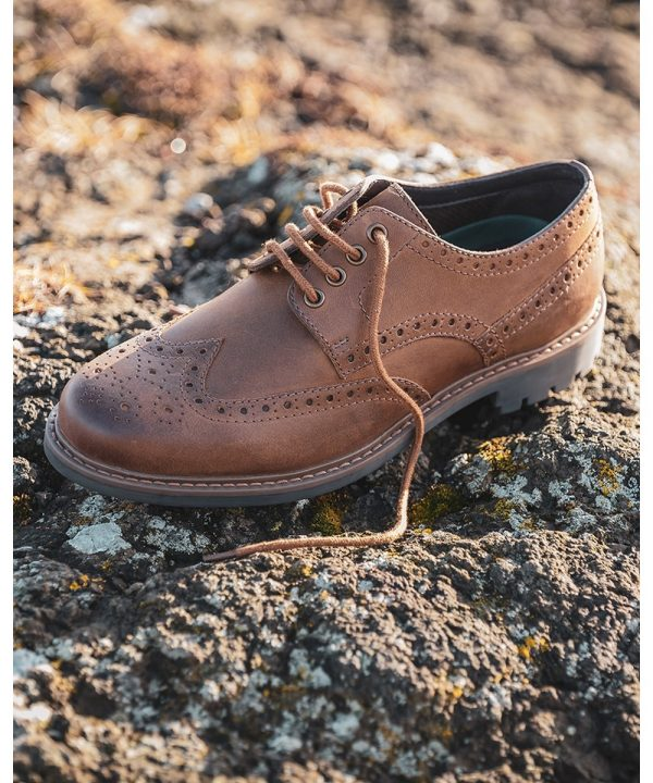 The Rantin Robin Inverurie Walnut Brown Brogue Shoes Picture