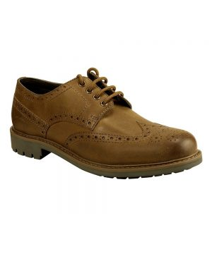The Rantin Robin Inverurie Walnut Brown Brogue Shoes Front View