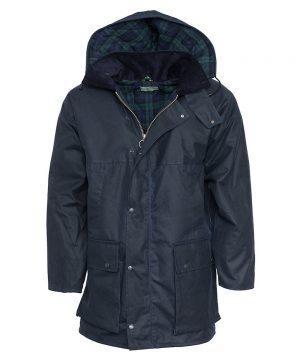 The Rantin Robin Navy Padded Waxed Jacket