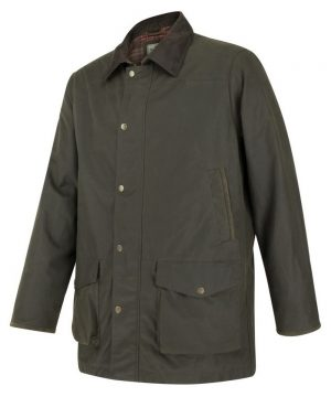 The Rantin Robin Caledonia Mens Waxed Jacket Front View