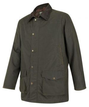The Rantin Robin Caledonia Mens Waxed Jacket Front View