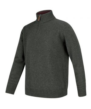 The Rantin Robin Lothian 1/4 Zip Neck Pullover Grey Colour