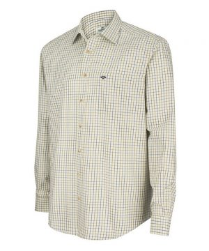 The Rantin Robin Inverness Cotton Tattersall Shirt Navy Olive