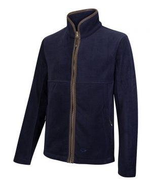 The Rantin Robin Stenton Technical Fleece Jacket Navy Colour Front View