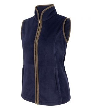 The Rantin Robin Stenton Ladies Fleece Gilet Front View