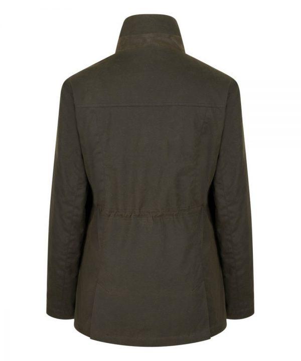 The Rantin Robin Caledonia Ladies Waxed Jacket Back View