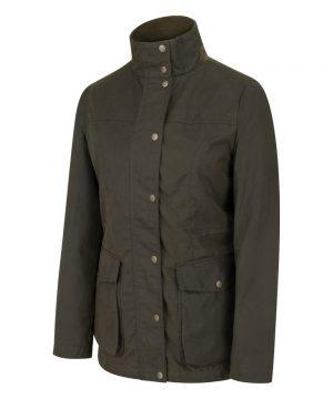 The Rantin Robin Caledonia Ladies Waxed Jacket Front View